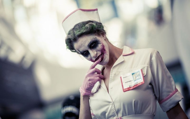movies cosplay The Joker nurse uniform wallpaper