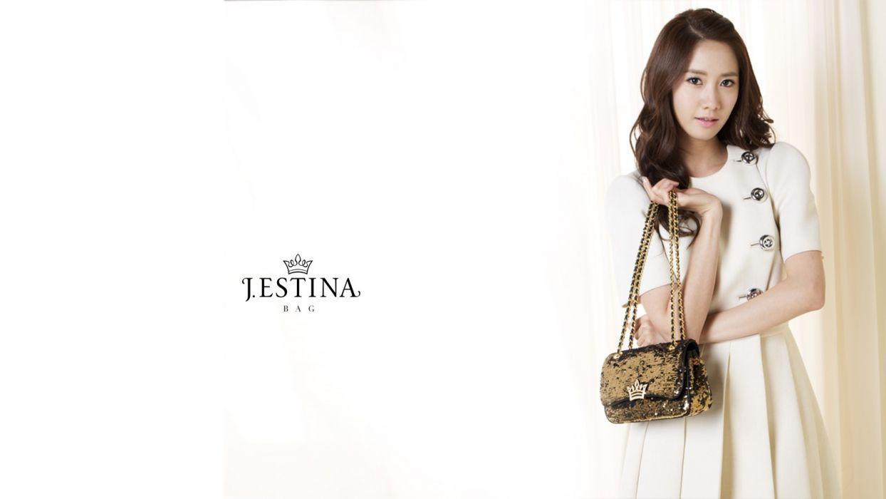 brunettes women Girls Generation SNSD celebrity Asians Korean singers Im YoonA handbag wallpaper