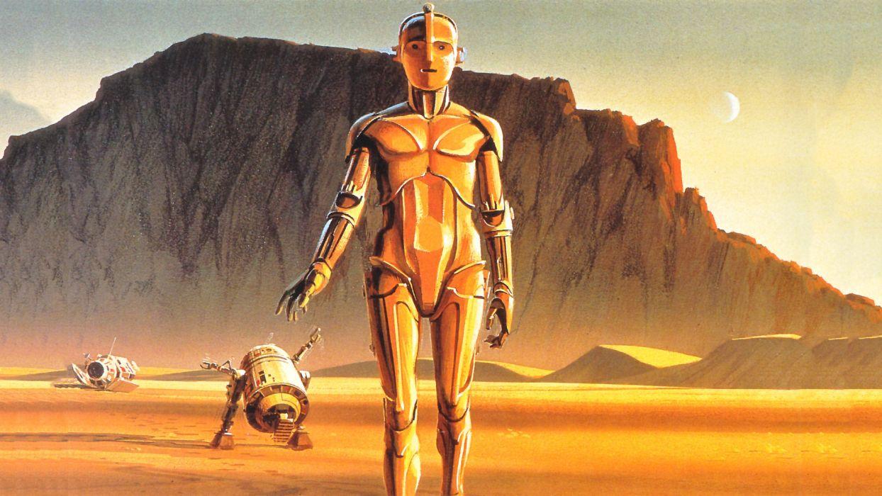 Star Wars R2D2 C-3PO Ralph McQuarrie wallpaper