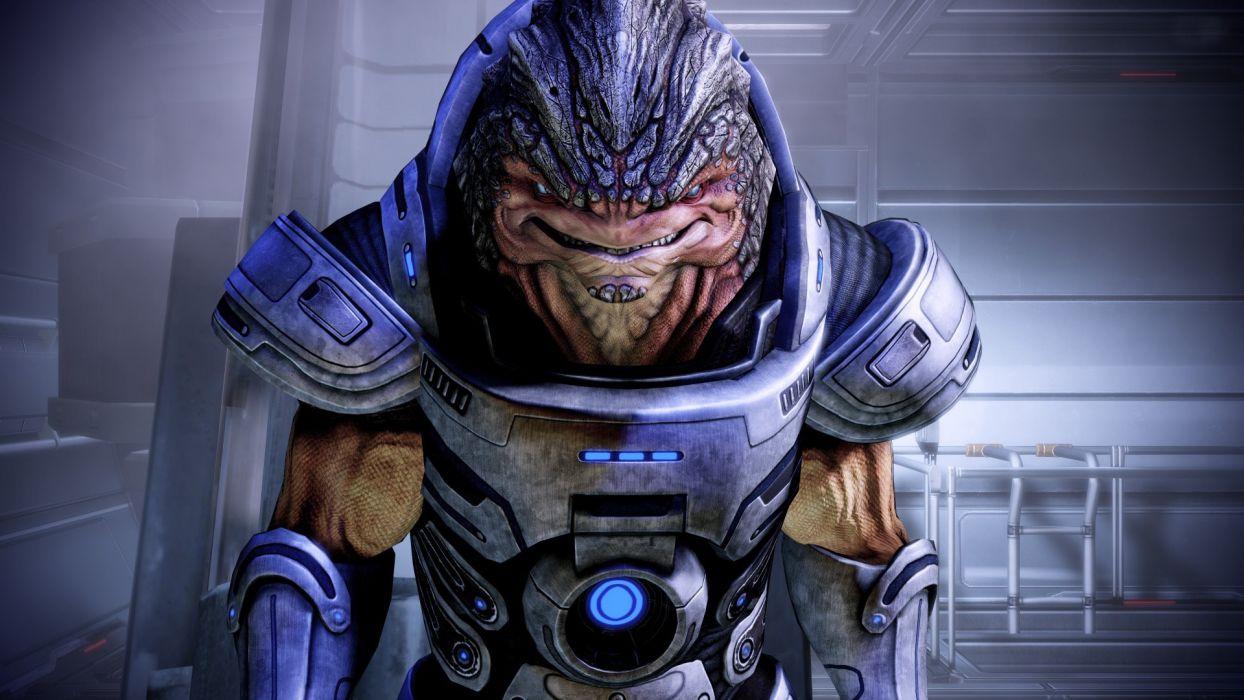 video games wall grunt Mass Effect 2 wallpaper