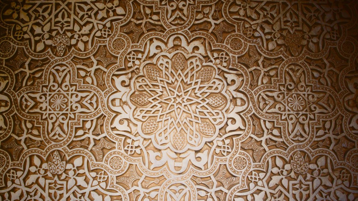 dark pattern stars design mosaic Arabian islamic wallpaper