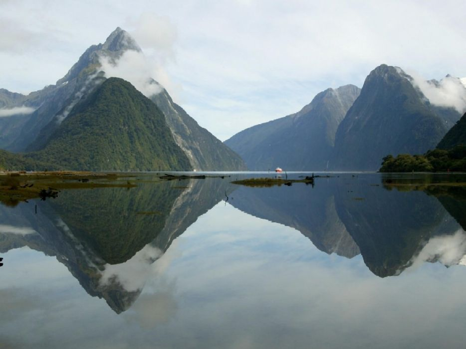 nature peak sound New Zealand lakes wallpaper