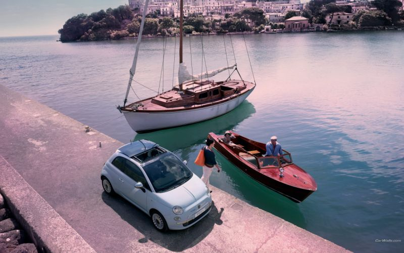 cars Fiat 500 wallpaper