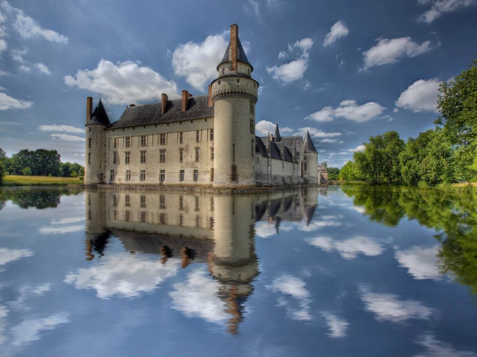landscapes buildings reflections wallpaper