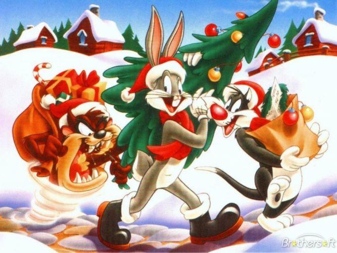 looney tunes christmas bugs bunny g wallpaper