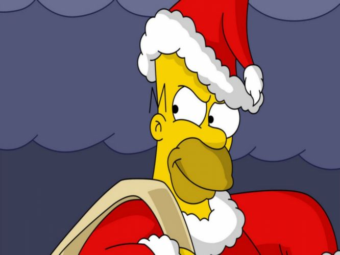 Simpsons Christmas g wallpaper
