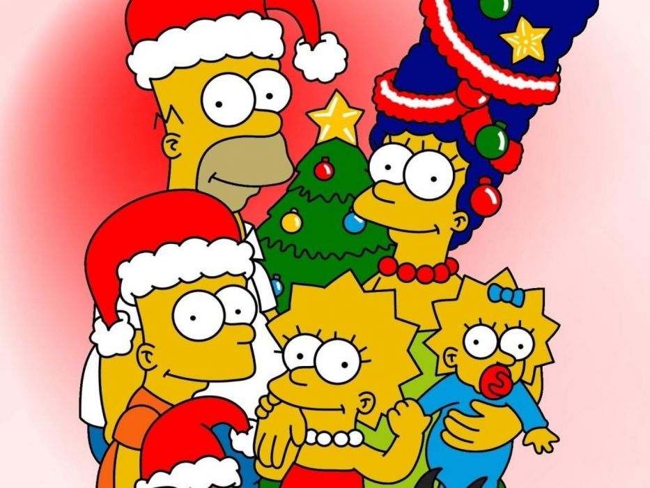 Simpsons Christmas   t wallpaper