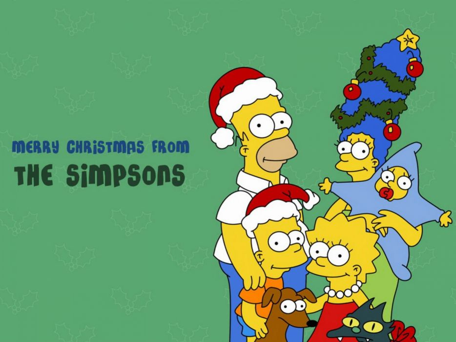 Simpsons Christmas   tw wallpaper