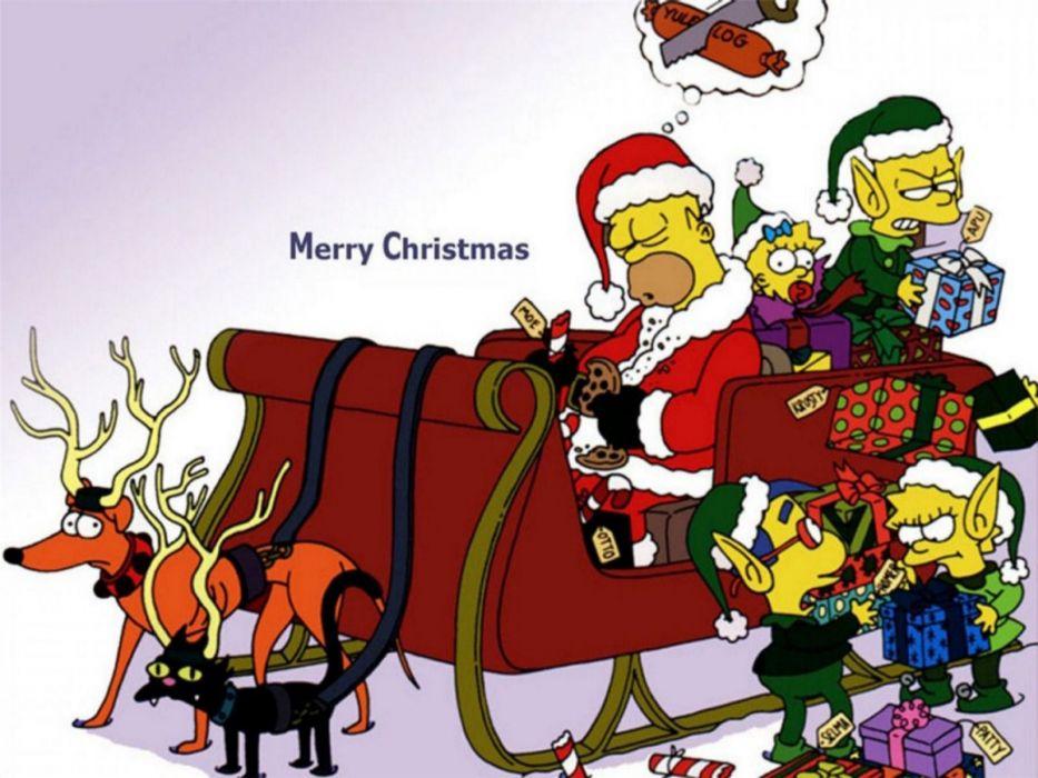 Simpsons Christmas g wallpaper
