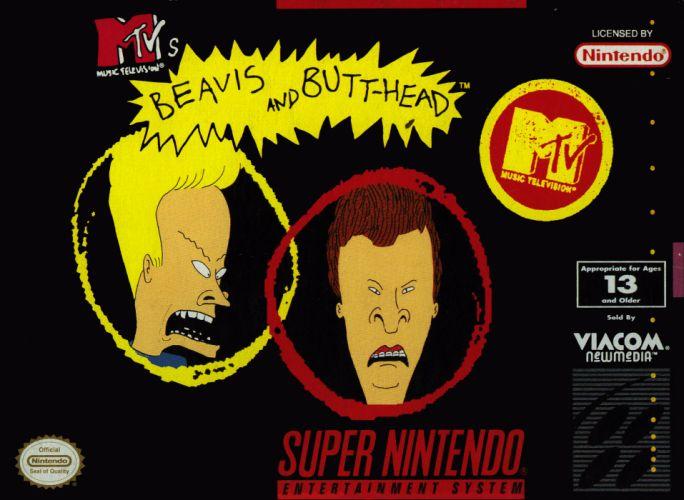 BEAVIS and BUTTHEAD poster nintendo games wallpaper