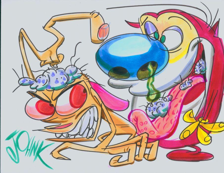 REN and STIMPY     r wallpaper