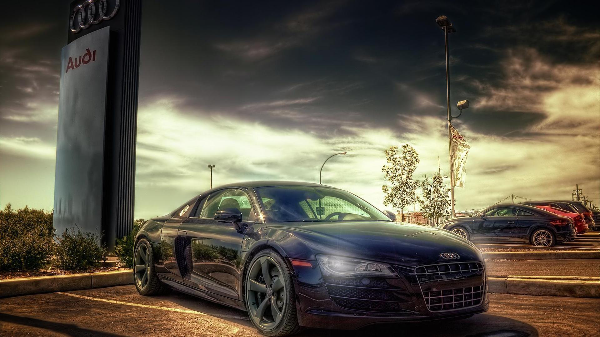 Cars Parking Hdr Photography Audi R8 V10 Wallpaper