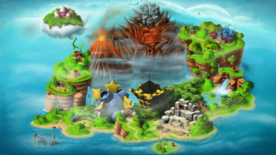 Mario Bowser maps Super Mario RPG: Legend of the Seven Stars wallpaper