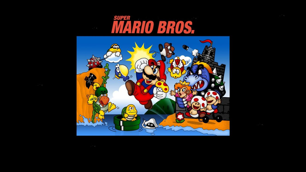 Nintendo Video Games Mario Mario Bros Super Mario Retro Games Nintendo Entertainment System Wallpaper 1600x900 185025 Wallpaperup