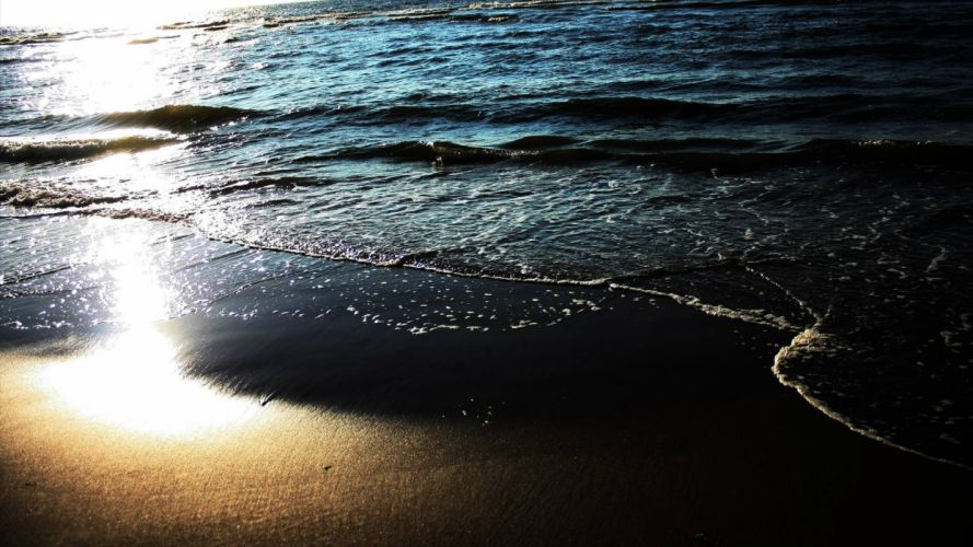 water Sun sea beaches wallpaper