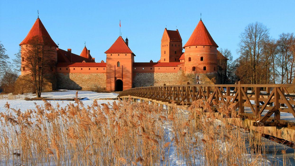 castles Lithuania Trakai wallpaper