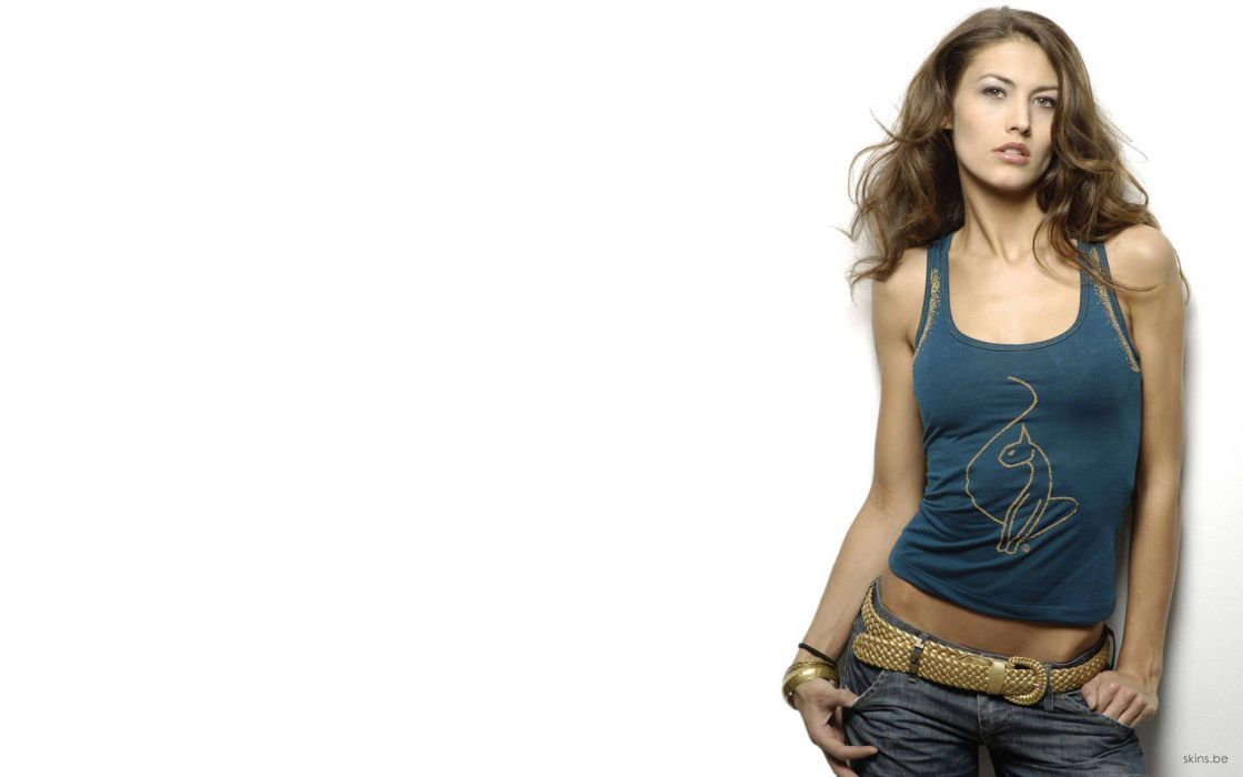 women jeans Fiona Erdmann white background wallpaper