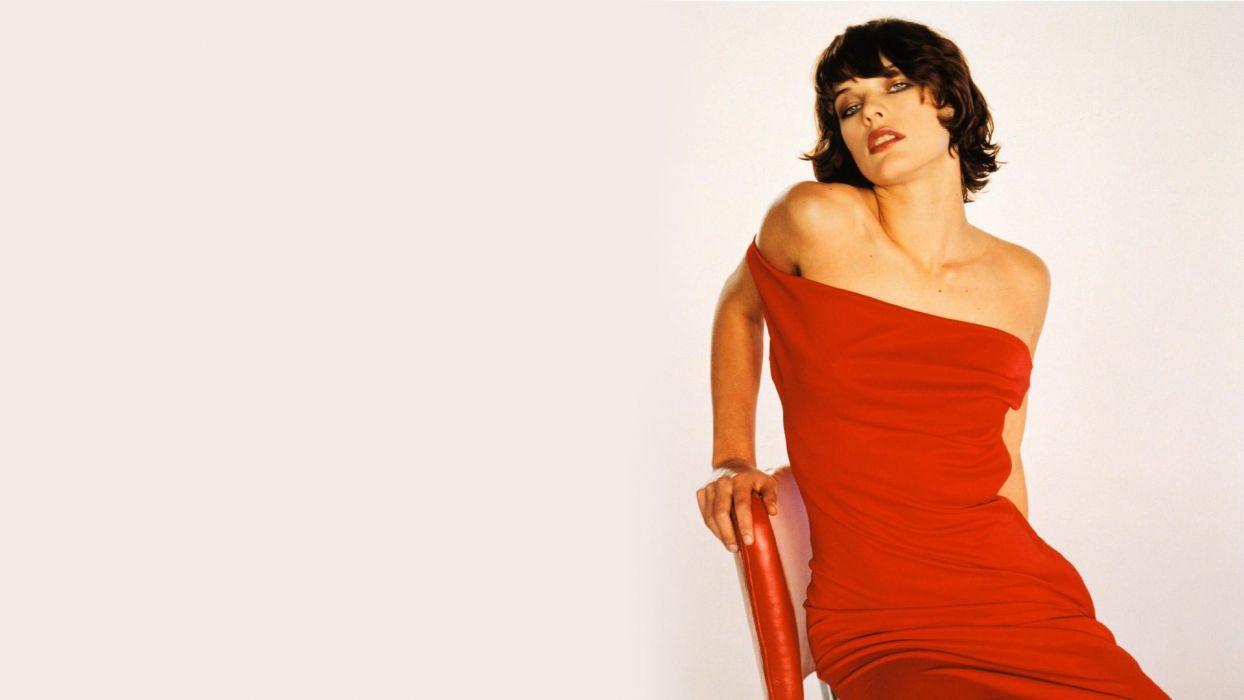 brunettes women Milla Jovovich wallpaper