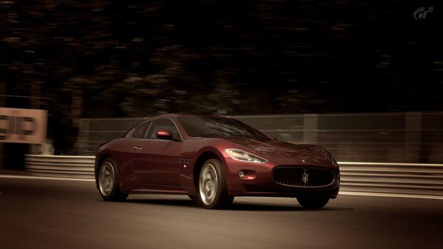 video games cars Gran Turismo 5 Playstation 3 Maserati GranTurismo S wallpaper