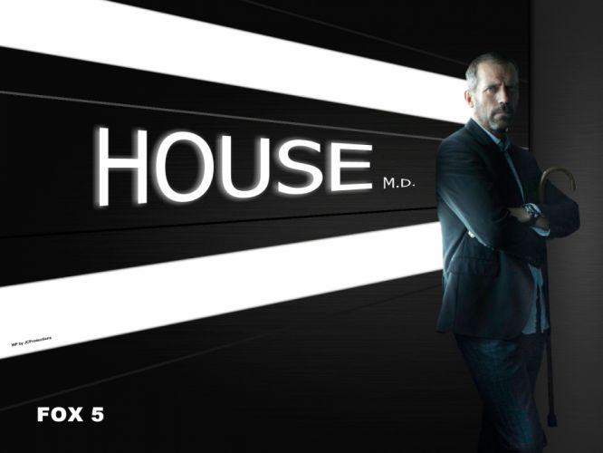 black Hugh Laurie House M_D_ wallpaper