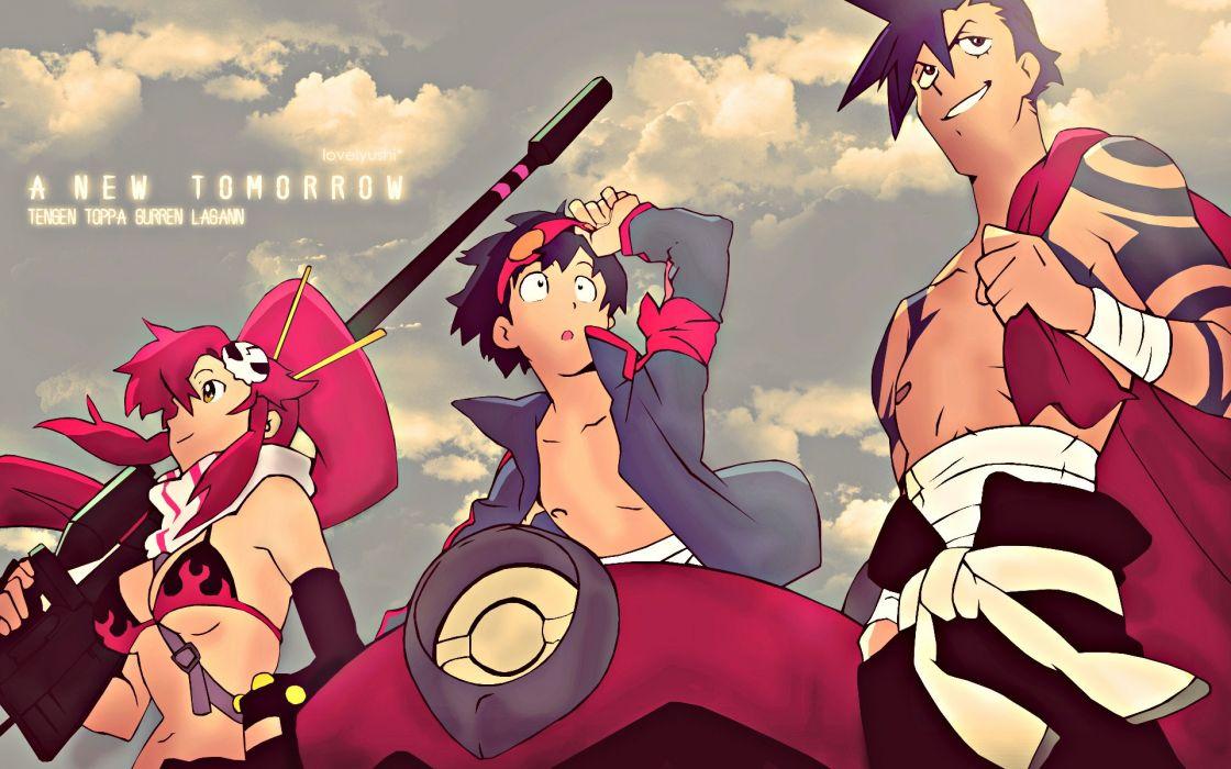 Kamina Tengen Toppa Gurren Lagann Simon Littner Yoko anime anime boys anime girls wallpaper