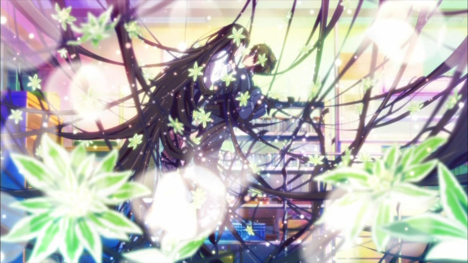 anime anime girls hyouka chitanda eru oreki houtarou wallpaper