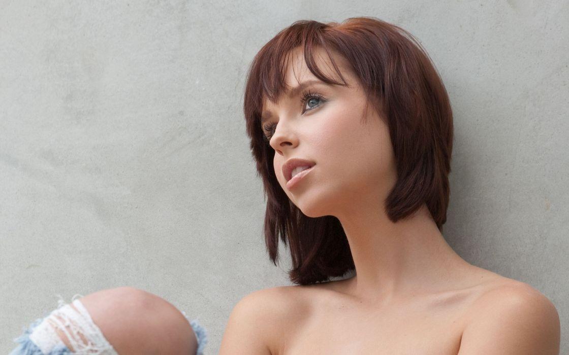 brunettes women eyes Hayden Winters wallpaper