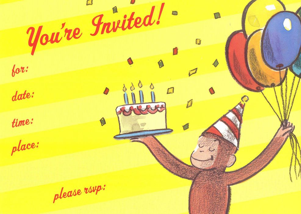 CURIOUS GEORGE birthday    t wallpaper