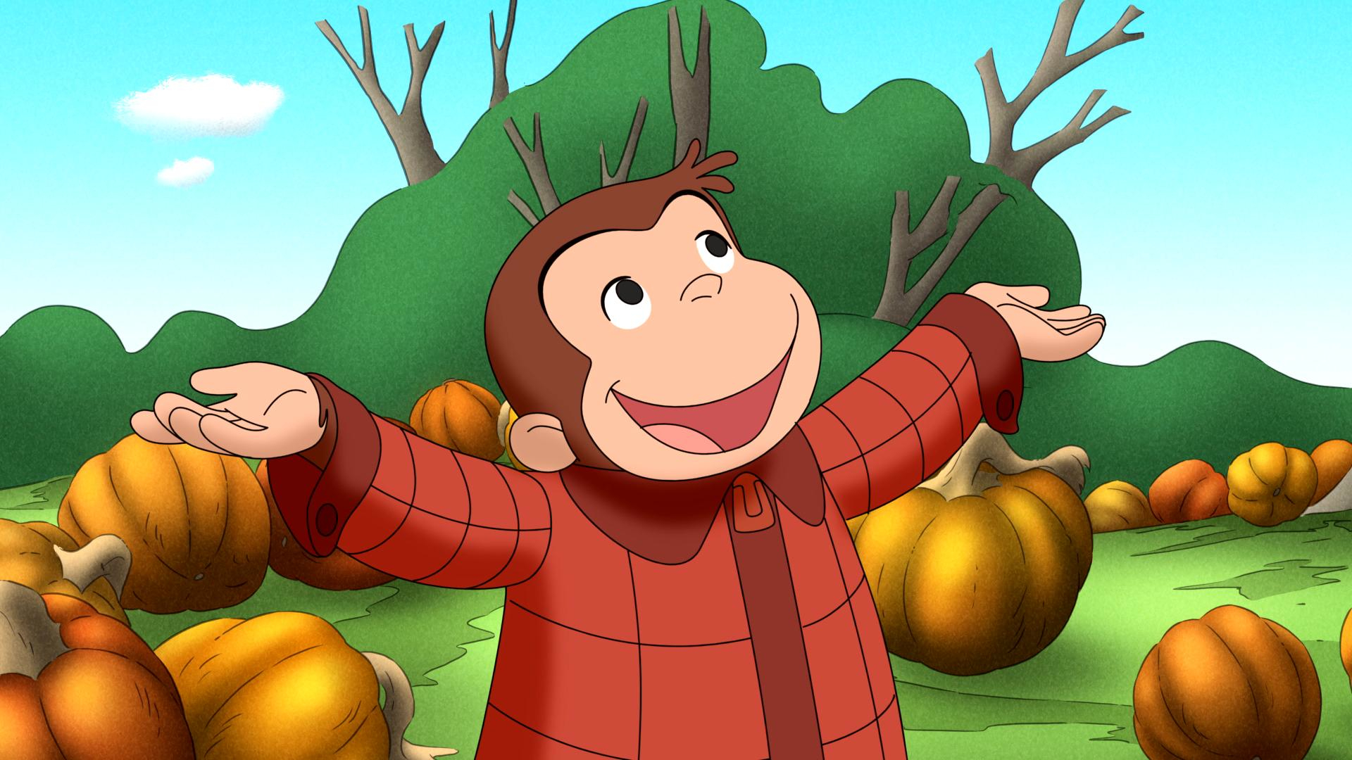 curious george halloween autumn g wallpaper 1920x1080