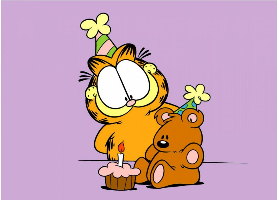 GARFIELD birthday      fs wallpaper