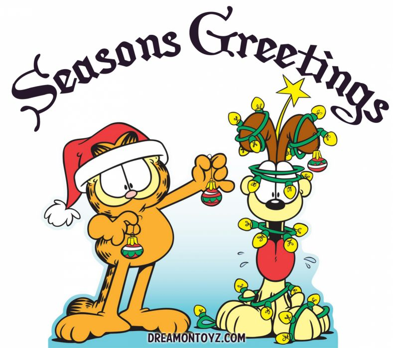 GARFIELD christmas      f wallpaper
