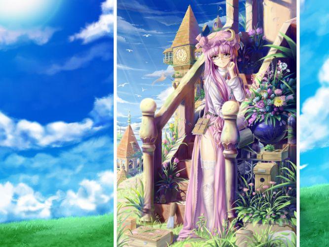 Touhou Patchouli Knowledge anime girls wallpaper