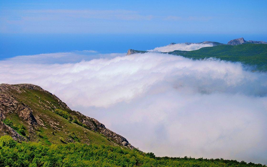 clouds landscapes nature wallpaper
