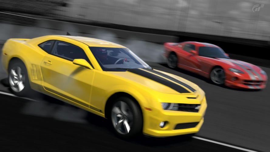 video games cars Dodge Viper SRT-10 Chevrolet Camaro SS Gran Turismo 5 wallpaper
