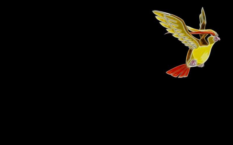minimalistic birds Fractalius Pidgeot simple background black background wallpaper