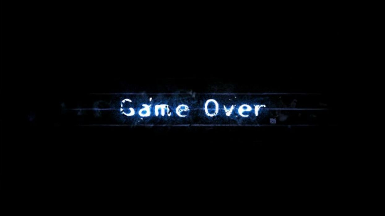 Game Over black background wallpaper