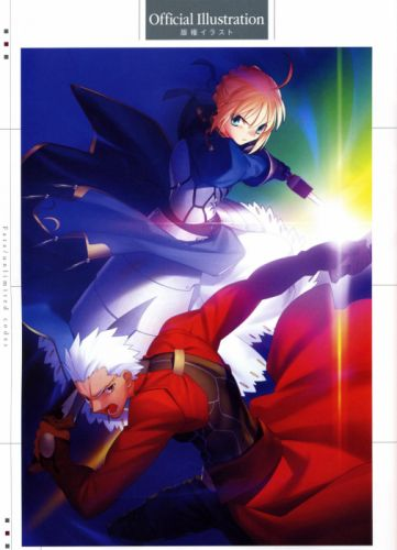 Fate/Stay Night concept art artwork characters anime Saber Archer (Fate/Stay Night) Fate series wallpaper