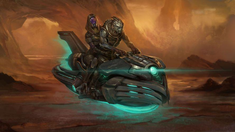 video games Mass Effect Garrus Vakarian Tali Zorah nar Rayya wallpaper