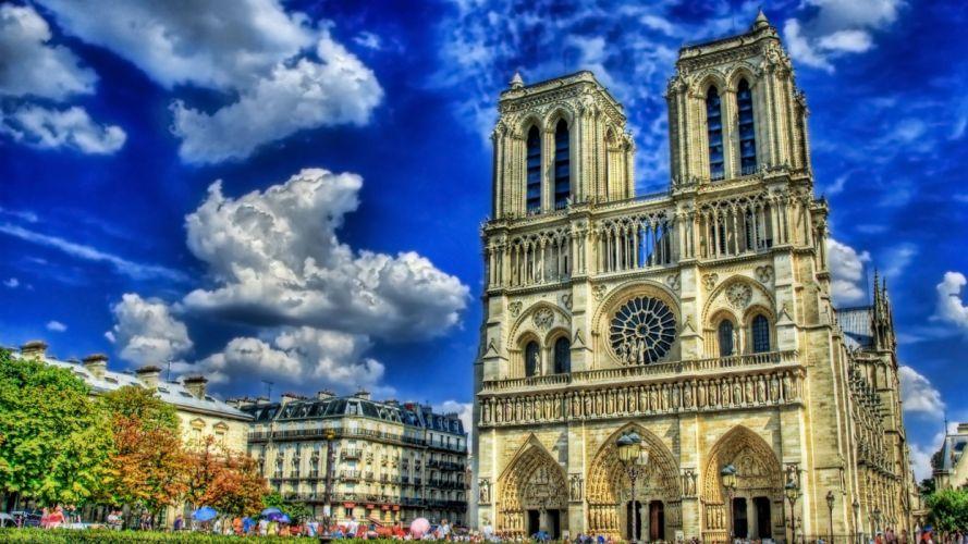 Paris cityscapes buildings HDR photography wallpaper