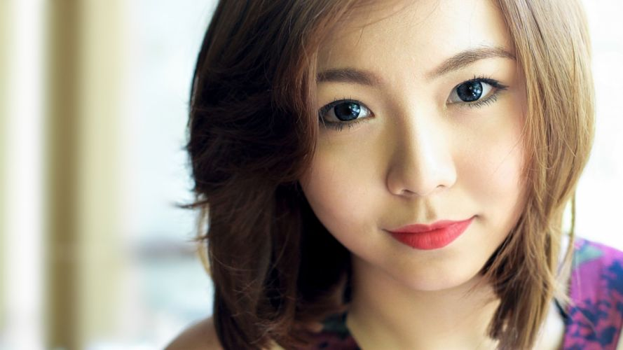 women Asians faces wallpaper