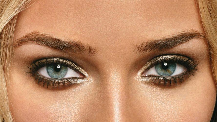 women close-up eyes actress models Diane Kruger faces wallpaper