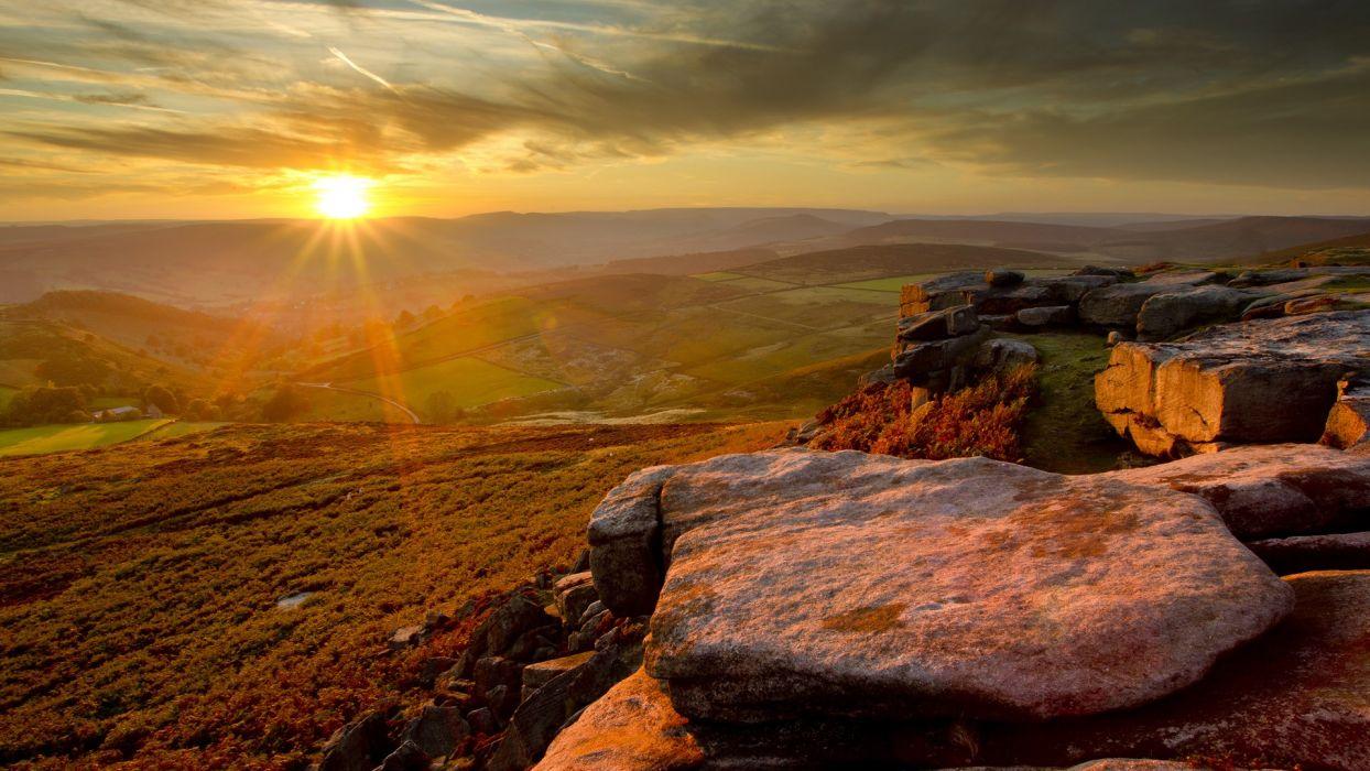 landscapes England peak District National Park wallpaper