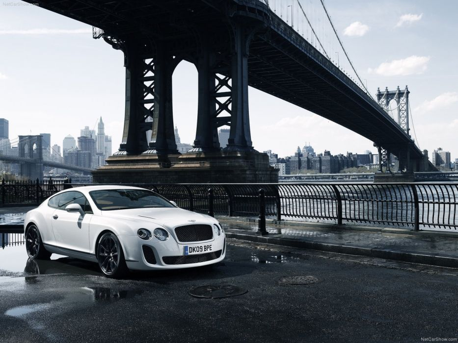 cityscapes white cars bridges Bentley vehicles front angle view wallpaper