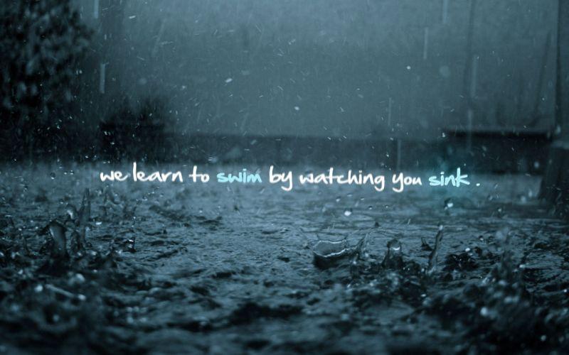 rain text wallpaper