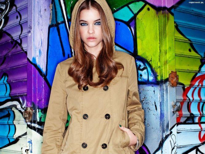 brunettes women blue eyes Barbara Palvin models wallpaper