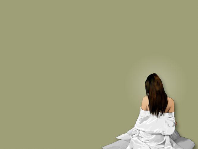 brunettes women vectors wallpaper