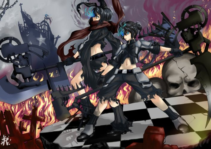 Vocaloid Black Rock Shooter Kagamine Rin Kagamine Len crossovers wallpaper