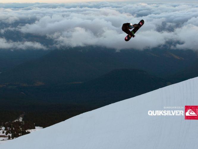 snow snowboarding Quiksilver wallpaper