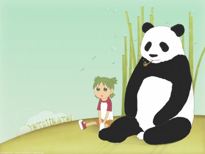 Yotsuba panda bears Yotsubato wallpaper