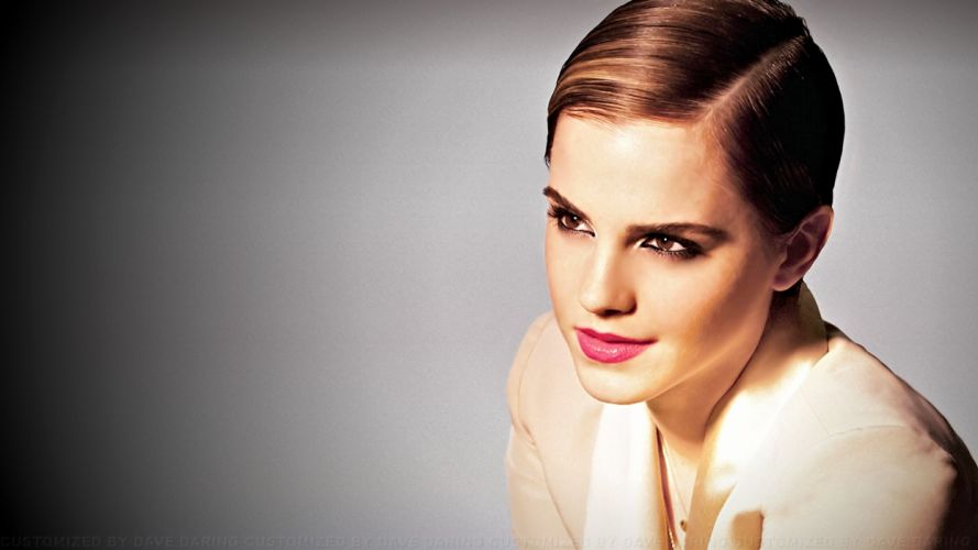 brunettes women Emma Watson models faces wallpaper